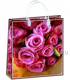 Сумочка из мягкого пластика 03 (41х32х10) большая BAL-111 (Розовые розы)