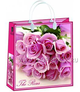 Сумочка из мягкого пластика 02 (30х30х10) средняя BАМ-114 (Розовые розы)