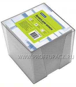 Блок для записей 9х9х9 в подставке, белый (159-722 / КБ9-10 БСн)