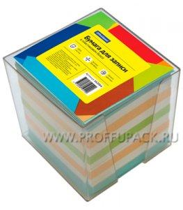 Блок для записей 9х9х9 в подставке, цветной (162-004 / КБ9-10 Цсн)