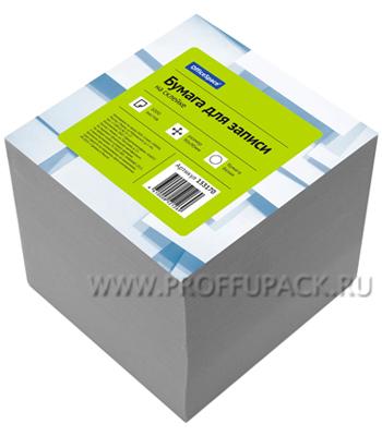 Блок для записей 9х9х9 проклееный, белый (153-170 / КБ9-10 Бп)