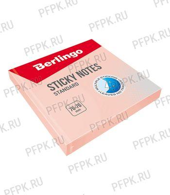 Блок самоклеящийся 76х76 (100 листов) Розовый (218-791/HN7676SR)