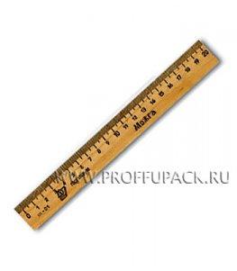 Линейка деревянная 20см (001-527 / С05 / C06)