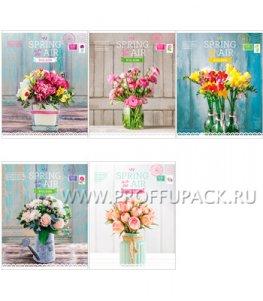 Тетрадь 48л Цветы (245-135 / Т48к_13681)