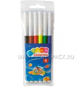 Фломастеры (набор 6 цветов) Космонавты (171-419 / WCP06_918)