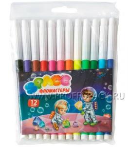 Фломастеры (набор 12 цветов) Космонавты (171-420 / WCP12_916)