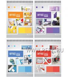 Блокнот А5 (40 листов) на гребне Офис.Яркие краски (253-982 / Б5к40гр_16791)