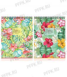 Блокнот А5 (80 листов) на гребне Цветы (292-752/Б5к80гр_28951)