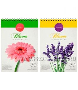 Блокнот А5 (80 листов) на гребне Цветы (219-858 / Б5к80грС_7144)