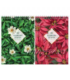 Блокнот А5 (80 листов) на гребне Цветы (270-606/Б5к80гр_22523)