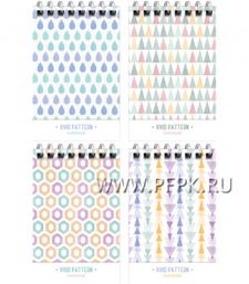 Блокнот А7 (40 листов) на гребне Светлый узор (276-076/ Б7к40гр_24230
