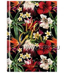 Блокнот А5 (80 листов) цветной блок Цветы(282-356/ББ5т80_26914)