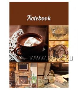 Блокнот А5 (80 листов) цветной блок Горячий шоколад (244-502/ББ5лт80_13889)
