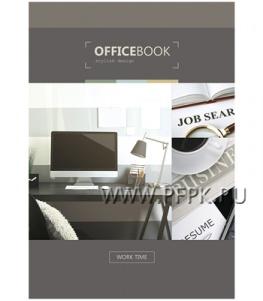 Блокнот А5 (80 листов) твердая обложка Офис (244-504/ ББ5лт80_13891)