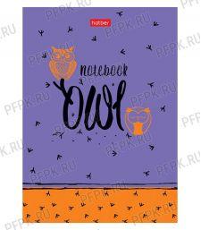 Блокнот А6 (160 листов) твердая обложка Night owl (299-693/160ББ6В1_20822)