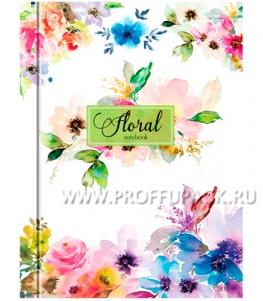 Блокнот А6 (160 листов) твердая обложка Цветы (237-757 / ББ6т160_10112)