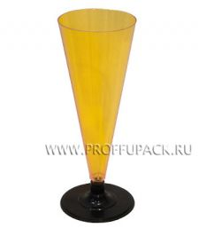 Фужер 150 мл на ножке Желтый