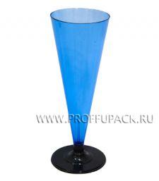 Фужер 150 мл на ножке Синий