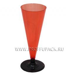 Фужер 150 мл на ножке Красный