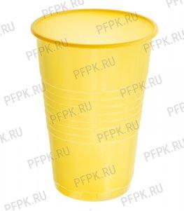 Стакан 200 мл ИНТЕКО (ЦВЕТНОЙ) п/п Желтый