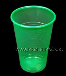 Стакан 200 мл ИНТЕКО (ЦВЕТНОЙ) п/п Зеленый