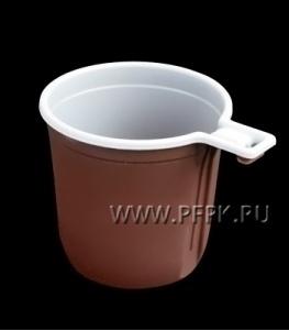Чашка кофейная ИП Бело-коричневая (без уп.)