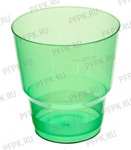 Стакан 200 мл КРИСТАЛЛ Зеленый
