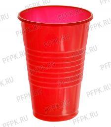 Стакан 200 мл ППЛ (ЦВЕТНОЙ) Красный