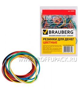 Резинки для денег цветные (пакет 100гр) BRAUBERG (440-036)