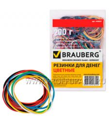 Резинки для денег цветные (пакет 200гр) BRAUBERG (440-037)