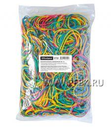 Резинки для денег цветные (пакет 1000гр) OfficeSpace (235-124/ RB9285)