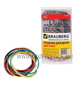 Резинки для денег цветные (пакет 500гр) BRAUBERG (440-050)