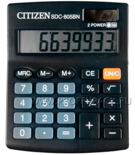 Калькулятор CITIZEN SDC-805BN (065-150/250-337)