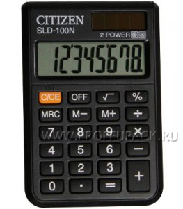 Калькулятор CITIZEN SLD-100N (158-176)