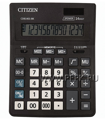 Калькулятор CITIZEN D14 Business Line CDB1401BK (250-435)