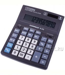 Калькулятор CITIZEN Correct D12 (218-795 / D-312)