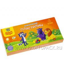 Пластилин (набор 6 цветов + стек) (236-480 / КП_10206)