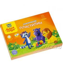 Пластилин (набор 8 цветов + стек) (236-481 / КП_10207)