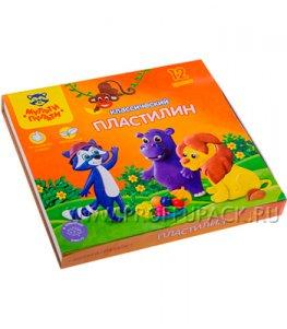 Пластилин (набор 12 цветов + стек) (236-483 / КП_10209)