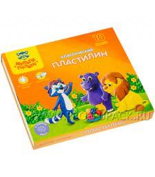 Пластилин (набор 10 цветов + стек) (236-482 / КП_10208)