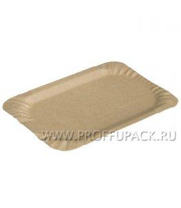Тарелка картонная 13х20см молоко