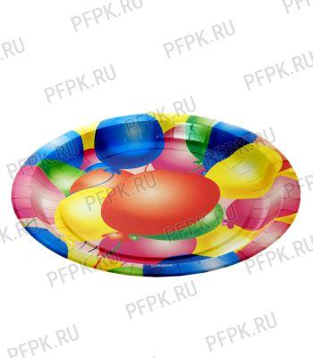 Тарелка бумажная 230мм Шары