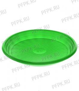Тарелка 1-секционная ЦВ Зеленая ТР-20
