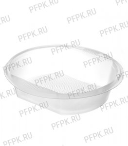 Тарелка суповая ППЛ п/п  500мл Прозрачная