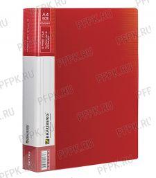 Папка на 2 кольцах BRAUBERG Contract А4 Красная (221-793)