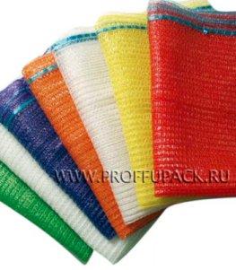 Сетки-мешки овощные 25х39 (до 5 кг) с завязками, с ручками Красные