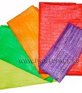 Сетки-мешки овощные 21х31 (до 3 кг) с завязками, с ручками Красные
