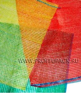 Сетки-мешки овощные 30х47 (до 9 кг) с завязками, с ручками Зеленые