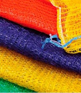 Сетки-мешки овощные 45х75 (до 30 кг) с завязками Оранжевые