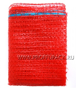 Сетки-мешки овощные 50х80 (до 40 кг) с завязками для лука Красная